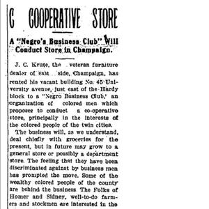 """North First Street Area - Champaign Downtown """"Negro"""" Cooperative Store"""