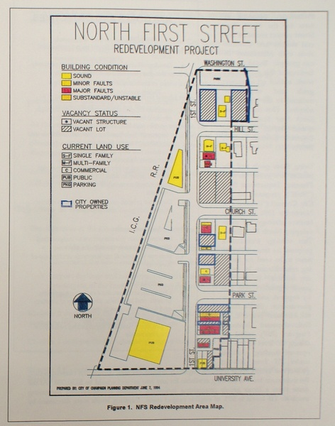 North First Street Redevelopment Project Map